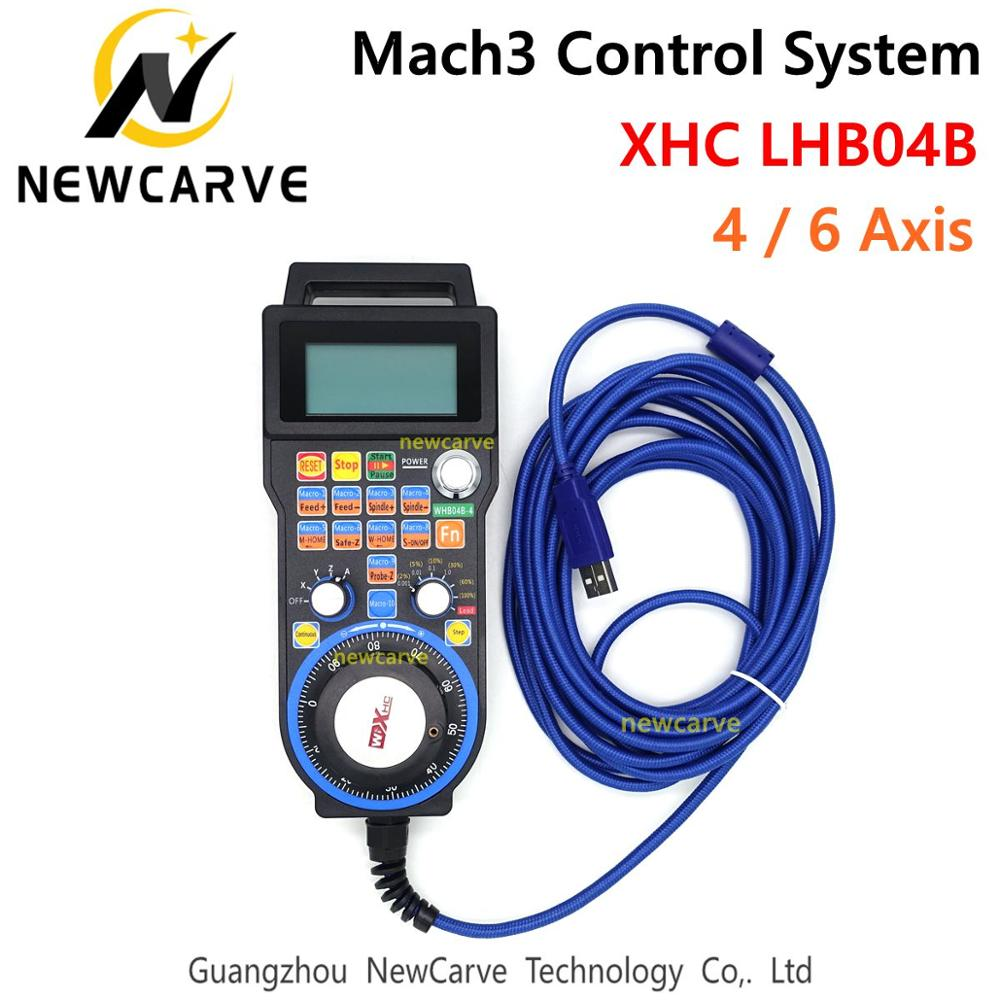 XHC LHB04B Newest Mach3 Wired MPG Pendant Handwheel CNC Controller For 4 / 6 Axis Engraving Machine NEWCARVE
