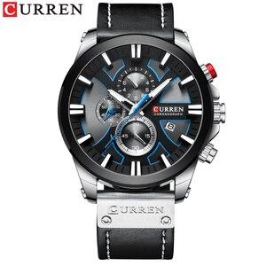 Image 4 - นาฬิกา CURREN Big Dial นาฬิกาผู้ชาย 2019 Chronograph SPORT นาฬิกาผู้ชายออกแบบสร้างสรรค์ด้วยวันที่ชายนาฬิกาข้อมือสแตนเลส