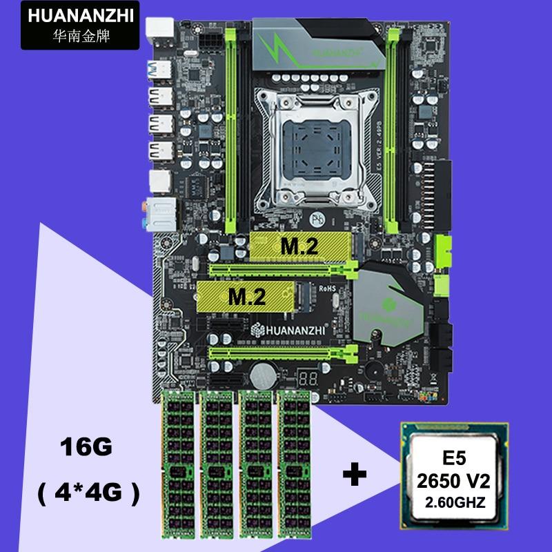 HUANAN ZHI X79 Motherboard CPU RAM Bundle Discount Motherboard With M.2 Slot CPU Xeon E5 2650 V2 RAM 16G(4*4G) 2 Years Warranty