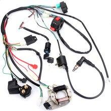 Электропроводка для квадроцикла катушка CDI инструмент зажигания мотоцикла 50 70 90 110CC ATV квадроцикла картинга система зажигания