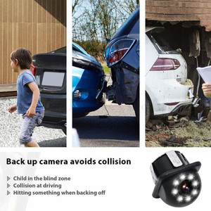 Image 3 - NEW High definition Car Rear View Camera 8 LED Night Vision Reversing Auto Parking Monitor CCD Waterproof 170 Degree HD Video