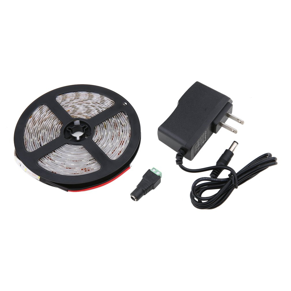 5 Meter 300 LED Waterproof 3528 White/Warm White Light Strip DC12V Flexible Lamp Home Party Decoration US Plug Accessory