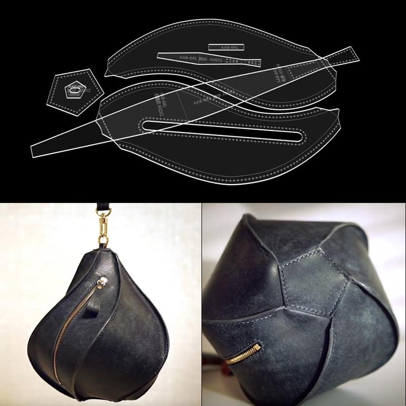 1 zestaw przezroczysty akrylowy skóra DIY ręcznie latarnia wzór torby do szycia narzędzie do szablonów 23*20cm