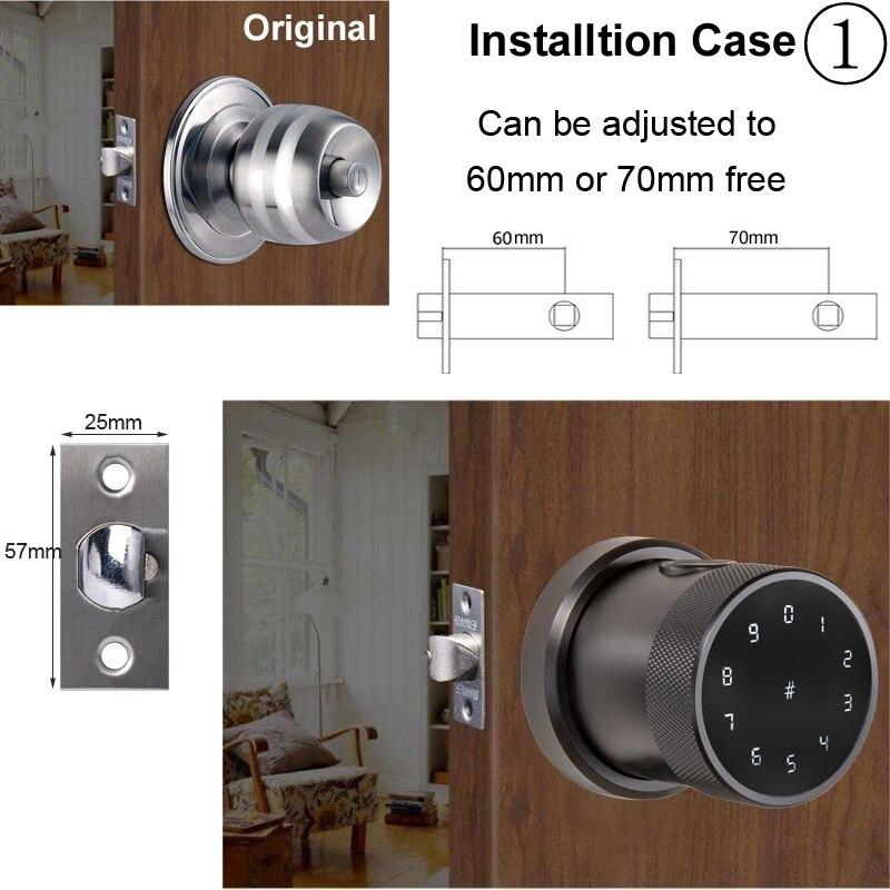 Hda03c11523be4bf3855b8b9d64f8f4d02 TT lock APP Fingerprint Door Lock Digital Keyboard Smart Card Combination knob Lock For Home / Office / Hotel DIY Door Lock