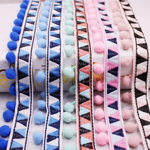 Lace Ribbon Sewing Accessories Pom Pom Tassel Pompoms Trim Ball Fringe Embroidery Apparel African Lace Fabric Wedding Decoration