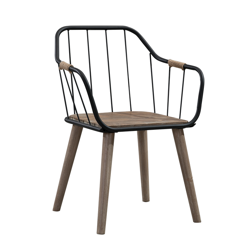 Modern Minimalist Solid Wood Home Dining Chair Backrest Computer Chair Dining Room Office Chair Lounge Chair Wrought Iron Stool