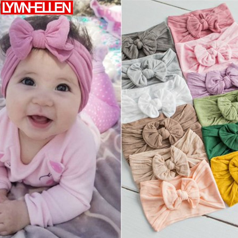 1pcs New Newborn Toddler Baby Girls Head Wrap Rabbit Big Bow Knot Stretch Turban Headband Hair Accessories Baby Decoration Gifts