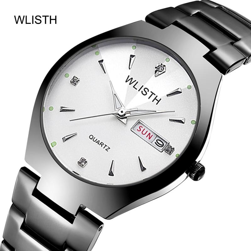 Women Quartz Watches Fashion Chinese-English Calendar Tungsten Steel Waterproof Business Men Quartz Watches Lovers Watches