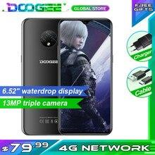 Doogee x95 4g-lte android 10 celular 13mp triplo câmera 2gb ram 16gb rom 4350mah 6.52 Polegada telefone móvel