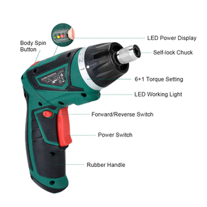 Image 3 - LANNERET 7.2V Li Ion Cordless Electric Screwdriver Household Rechargeable Twistable Handle