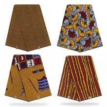 Ткань из Анкары вощеная африканская ткань печать 100% хлопковый