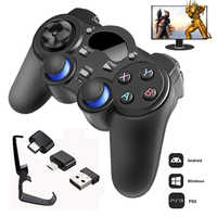 2,4G Gamepad inalámbrico Android Joystick Joypad con OTG Convertidor para PS3/teléfono inteligente para Tablet PC caja de TV inteligente