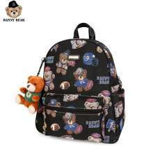 Danny Bear Fabric Bagpack Vintage Student Laptop Bag Zipper Casual Bear Print Vogue Backpack Travel Backpack DMDB9115006-193 рюкзак danny bear danny bear mp002xg006i1
