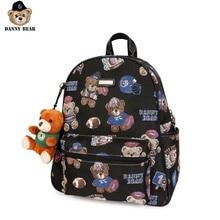 Danny Bear Fabric Bagpack Vintage Student Laptop Bag Zipper Casual Bear Print Vogue Backpack Travel Backpack DMDB9115006-193