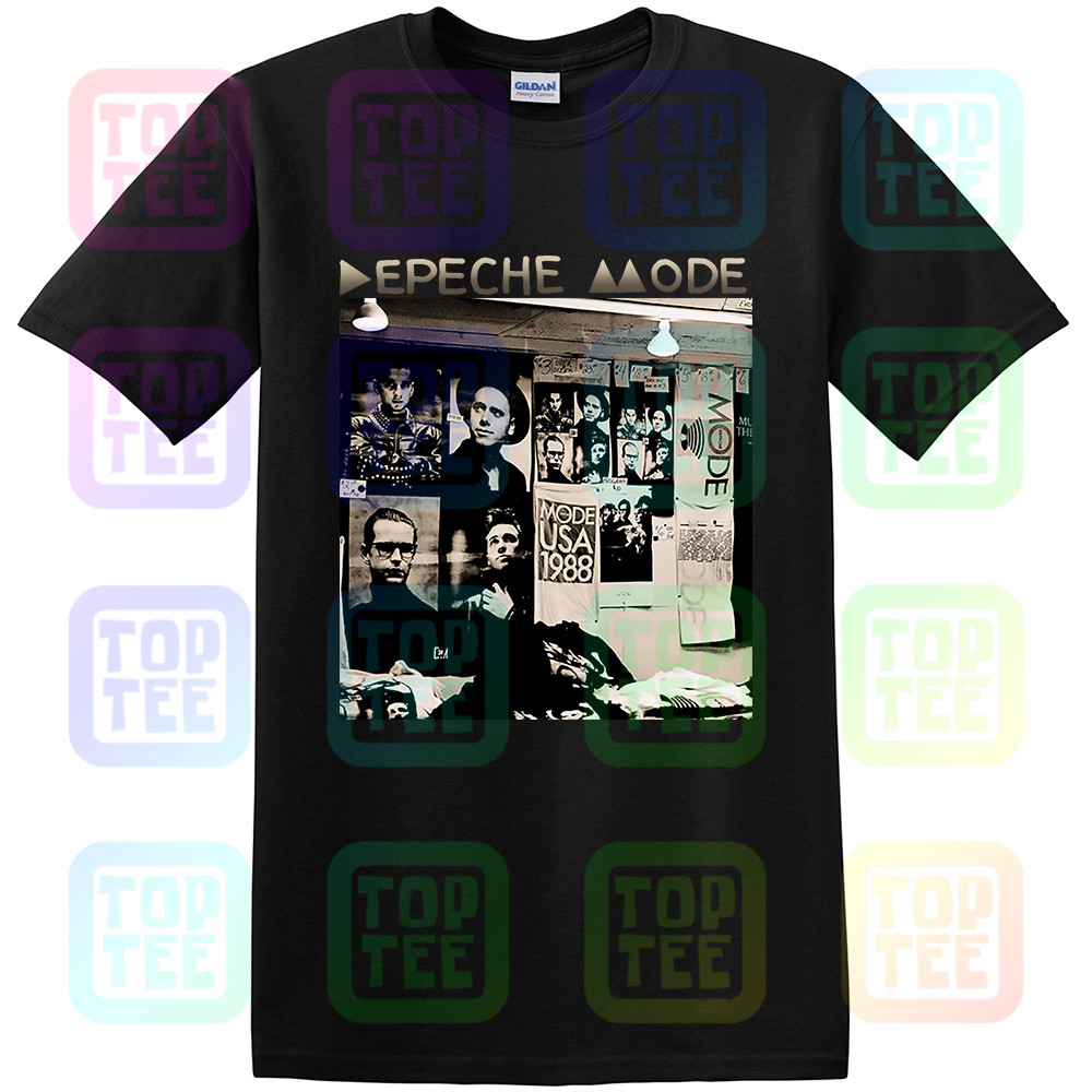Depeche Shirt Mode - 101 (1988) DM Black T SHIRT 100% Cotton All Sizes S-3XL