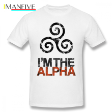Teen Wolf T Shirt I M THE ALPHA T-Shirt Cotton Short Sleeves Tee Man 6xl Print Classic Awesome Tshirt