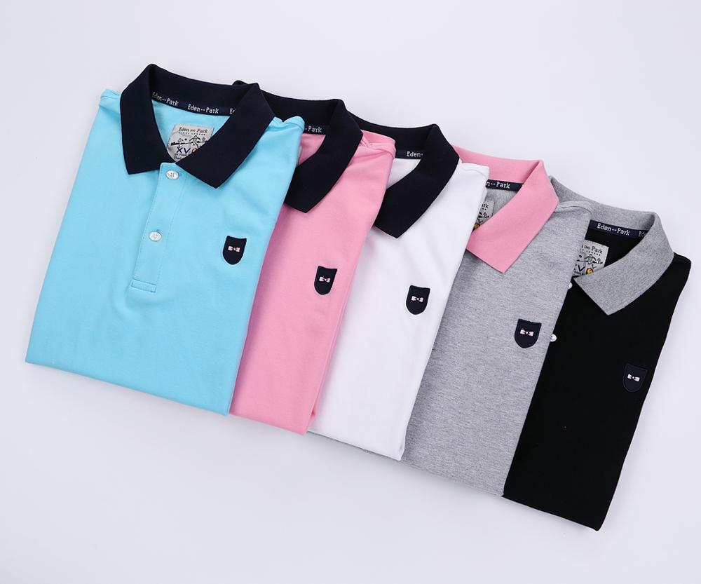 Classic Homme polo Eden-Park Stretch cotton comfortable Eden/Park men's Polo shirt Nice Quality Embroidery Logo Plus size 3XL