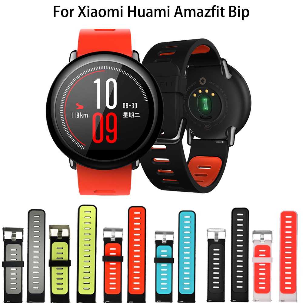 Wrist Strap 22mm Sports Silicone Bands For Xiaomi Huami Amazfit PACE Stratos 2 2S GTR 47mm Smart Watch Replacement Wristband