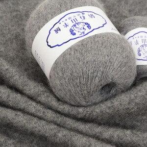 Image 3 - 200g חוט צמר מרינו 100% חוטי קשמיר יד סריגה התיכון שמנמן קשמיר חוט תינוק חוט סריגה צמר סרוג חוט