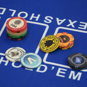 Image 3 - Customize Ceramic Chips Texas Poker Chips Professional Casino Poker Chips Set Round Casino Coin Customizable Party Event Souveni