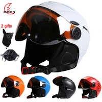 Luna CE casco de esquí totalmente moldeado deportes hombre mujeres cascos de esquí Snowboard con gafas máscara de nieve casco de Skate