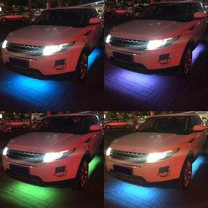 Image 5 - Niscarda tira de luz LED RGB con Control remoto para coche, sistema de iluminación interior para tubo de coche, luz de neón DC12V IP65 5050 SMD