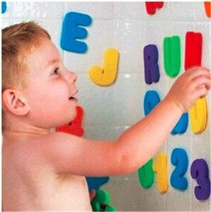 36 sztuk/zestaw dziecko dzieci dzieci edukacyjne zabawki pianki litery numery pływające łazienka z wanną wanna zabawka dla dzieci dla chłopca dziewczyna prezenty 2019 nowy