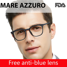 MARE AZZURO Eyeglasses Reading Anti-blue Light Glasses Round Reading Glasses Man Computer Hyperopia Magnifying Spectacles OC5106
