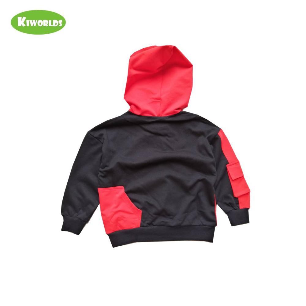 2019 high quality spring autumn cotton long sleeve girl boy T shirt special patchwork and hooded with hat clothing for kids in T Shirts from Mother Kids