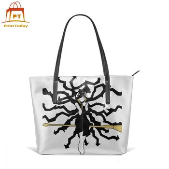 Soul Eater Handbag Soul Eater Top-handle Bags High quality Street Leather Tote Bag Teenage Wide Woman Pattern Women Handbags фото