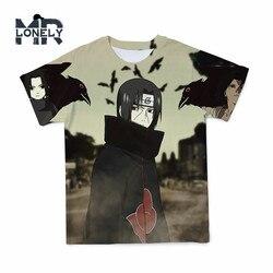 3D T Shirt japońskie Anime Naruto koszule dla mężczyzn kreskówki z krótkim rękawem Tshirt mężczyźni odzież koszulki z okrągłym dekoltem duży rozmiar 110-6XL