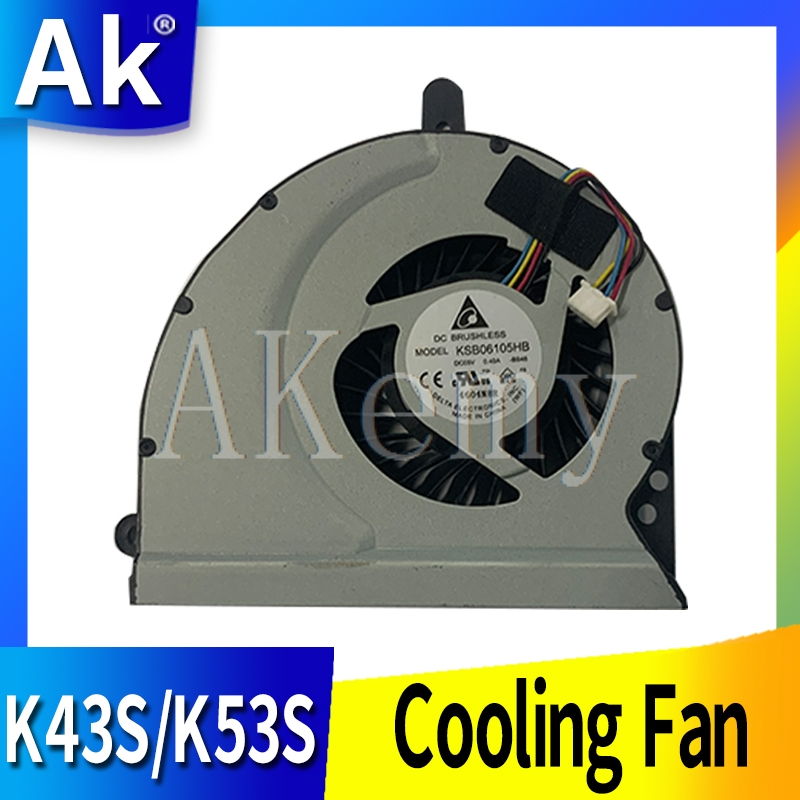 New laptop CPU cooling fan Cooler Notebook PC for ASUS ROG Strix FX503 FX503VD GL503VD GL503 FCN DC12 0. 4A FCN4VBKLFAJN10 Laptop