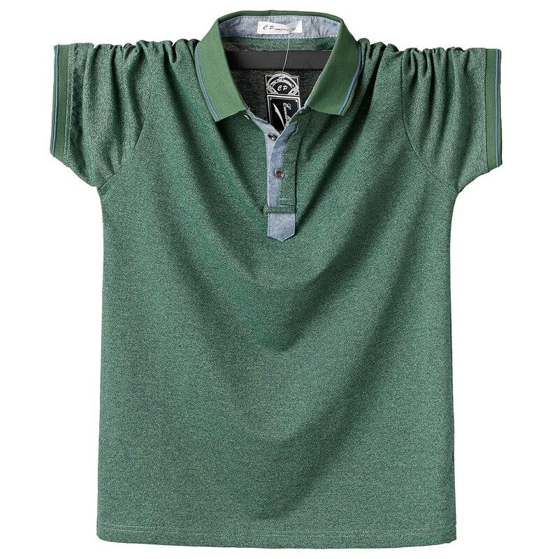 Summer Men Polo Shirt Mens Classic Solid Polo Shirts Cotton Shirt 6XL Large Size Casual Fashion Men Outwear Clothing Tops Tees Men Men's Clothings Men's Polo Shirts Men's Tops cb5feb1b7314637725a2e7: Brown|Fuchsia|Blue|Green|Pink