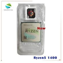 Neue AMD CPU prozessor Ryzen 5 1400 R5 1400 3,2 GHz 65W Quad Core CPU YD1400BBM4KAE Buchse AM4