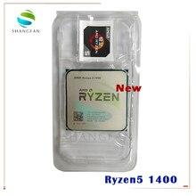 Novo processador cpu amd ryzen 5 1400 r5 1400 3.2 ghz 65w quad core cpu yd1400bbm4kae soquete am4