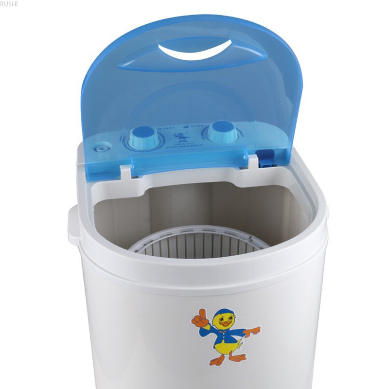 Small Single Barrel Single-Cylinder Household Semi-Automatic Washing Machine 3.5kg Capacity Suitable for Childrens Baby Clothes Mini washing machine Summer Clothes Washing