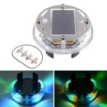 цена на 12 LED RGB Car Auto Solar Energy Flash Wheel Tire Rim Light for Auto Car Decoration Colorful Atmosphere Lamp