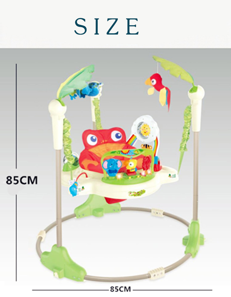 Hda059461af394f0986c88df4d25599f3E Multifunctional Electric Baby Jumper Walker Cradle Tropical Forest Baby Swing Rocking Body Child bouncer Swing Fitness Chiar