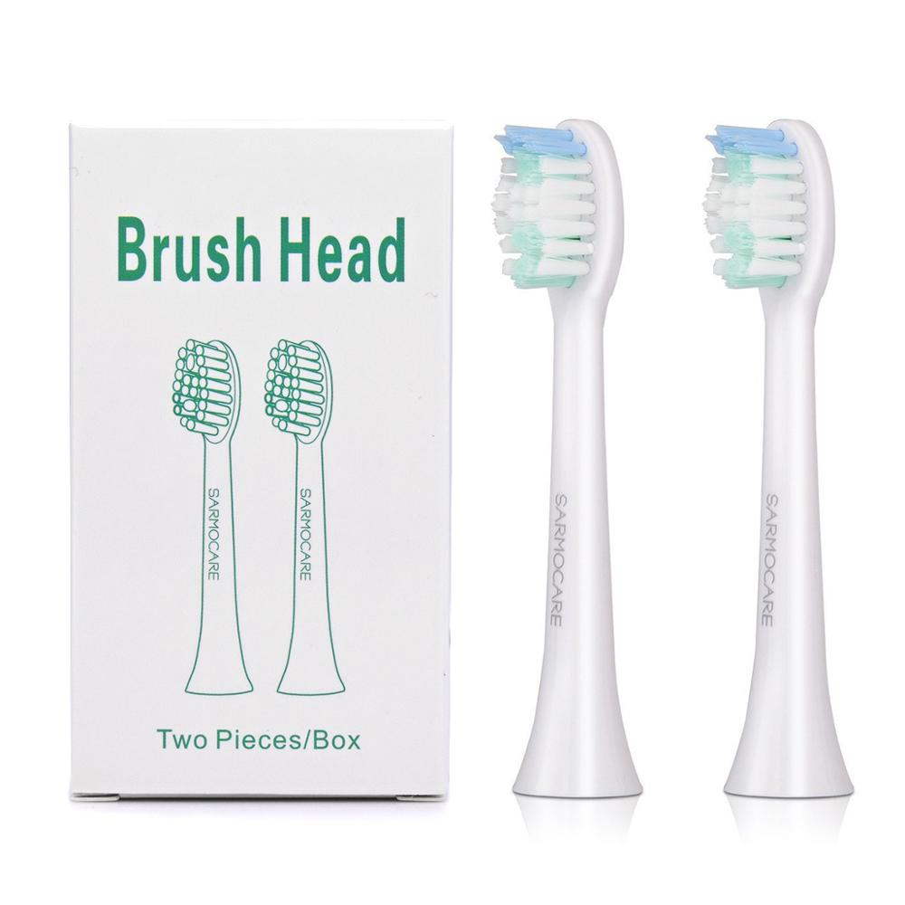 Toothbrushes Head for Sarmocare S100/200 2PC Ultrasonic Sonic Electric Toothbrush fit Digoo DG-YS11 Electric Toothbrushes Head