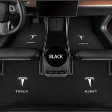 3 adet ön arka araba paspaslar Tesla modeli 3 Anti-kayma astarı özel halı su geçirmez kokusuz Pad araba aksesuarları