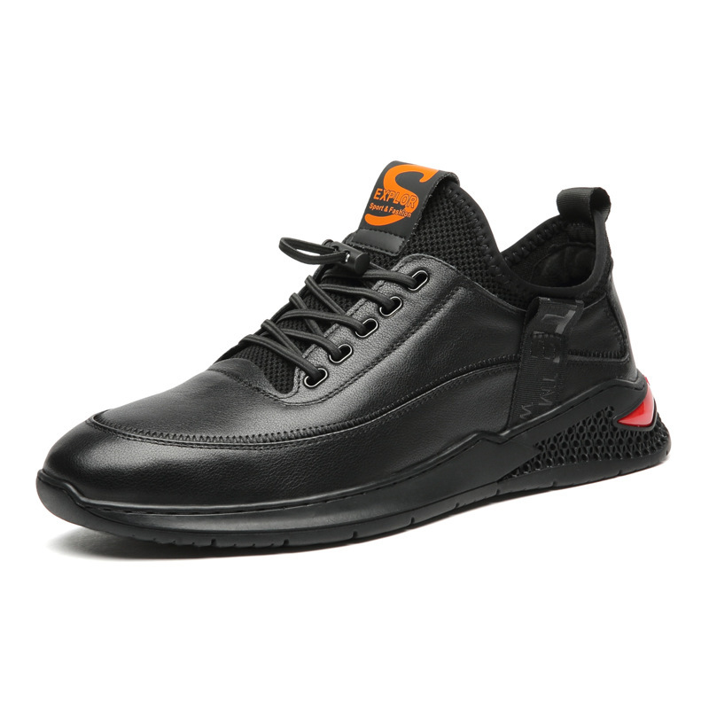 Xm6 outono e inverno couro sapatos masculinos