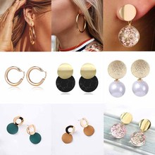 BTWGL Korea New Fashion Earrings Womens Crystal Pearl Bohemian Style Vintage Speaking Ms. Jewelry