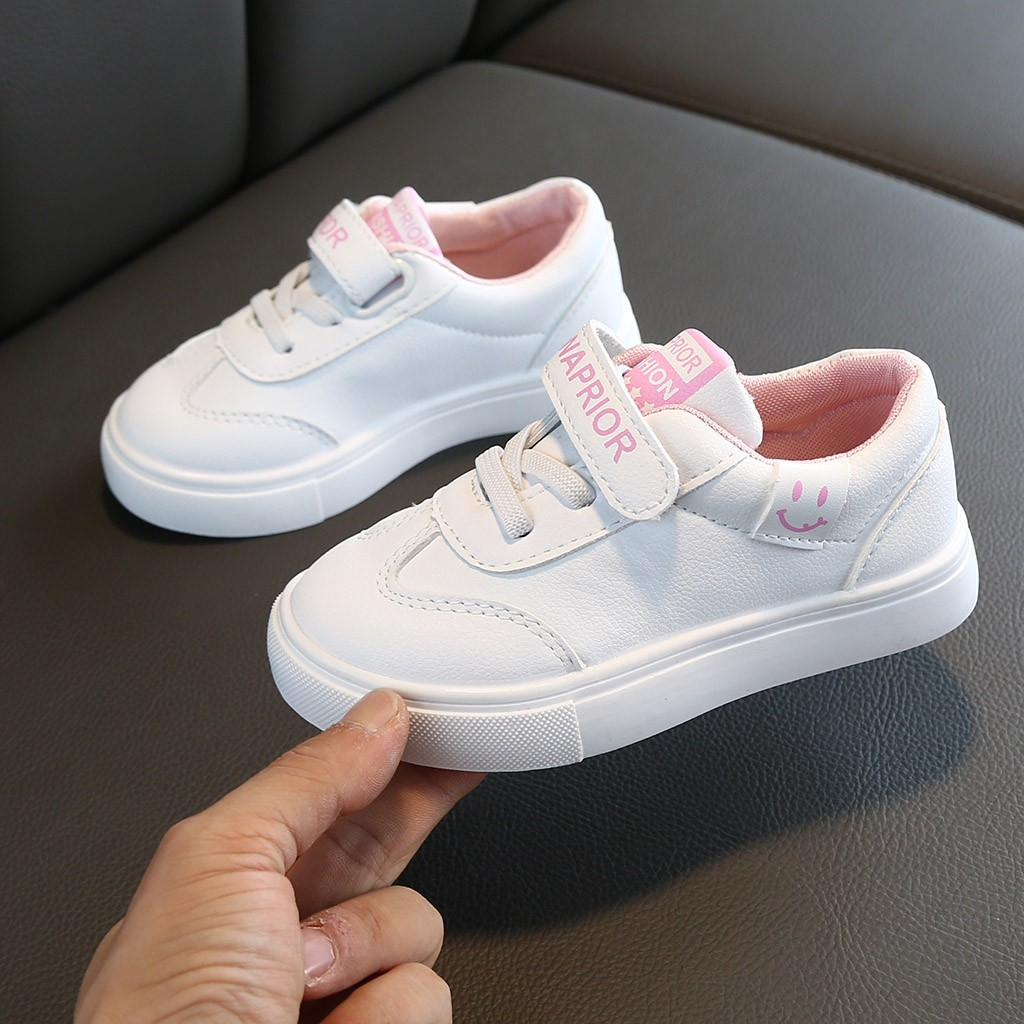 kids sneakers boys shoes girls trainers Children leather shoes Pink white school shoes pink casual shoe flexible sole Discount