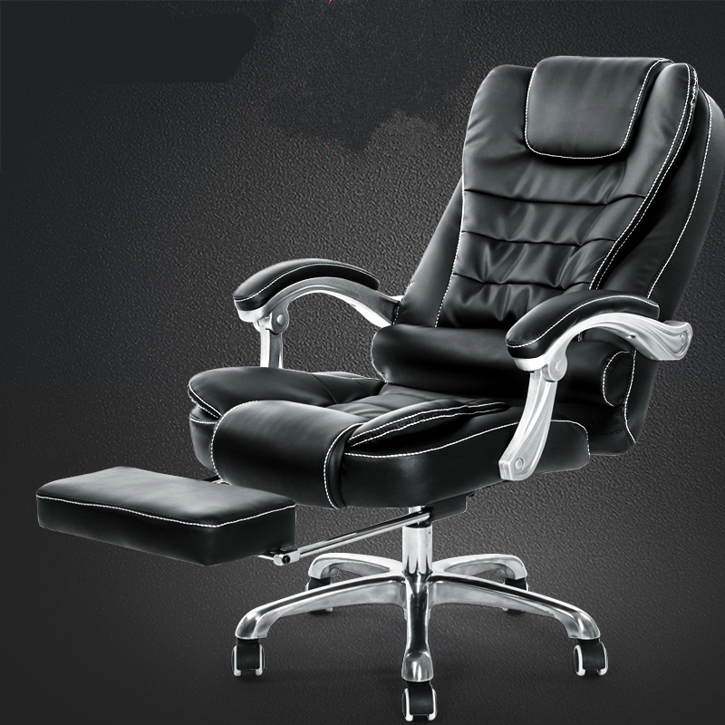 Thicken Cushion Soft Boss Chair Reclining Office Chair Lift Household Massage Chair With Footrest Swivel Computer Chair Soft