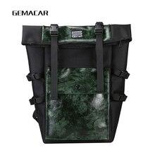 Retro Unisex Backpack Large Capacity PU Leather High Quality Men Women Bagpack Tourism Youth Multi-function Bag England Style