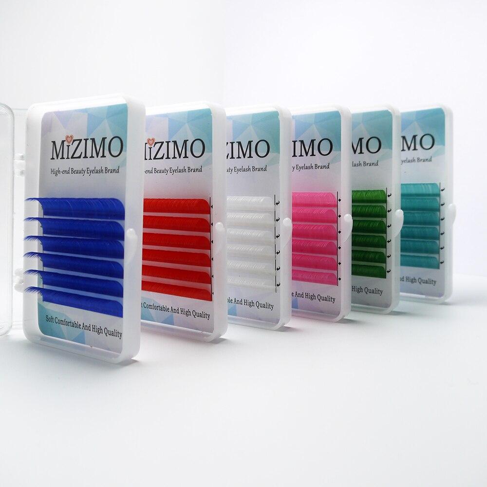 Kostenloser versand farbe wimpern 0.07/0,1 mm8-17mm weiß blau grün lila Rosa Rot Natürliche Weiche Persönlichkeit Wimpern Verlängerung