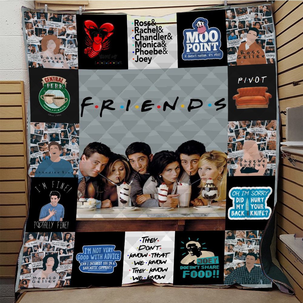 SOFTBATFY Friends Quilt Blanket for Bed Soft Dropshipping