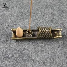 Boat Brass Pet-Ornaments Tea Home-Decoration Chinese Bird Copper Crafts Incense-Burner