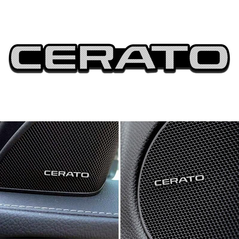 3D Car Speaker Stereo Aluminum Badge Emblem Sticker For KIA Cerato K3 Cerato 2 Cerato 3 2011 2018 2019 Car Accessories Styling
