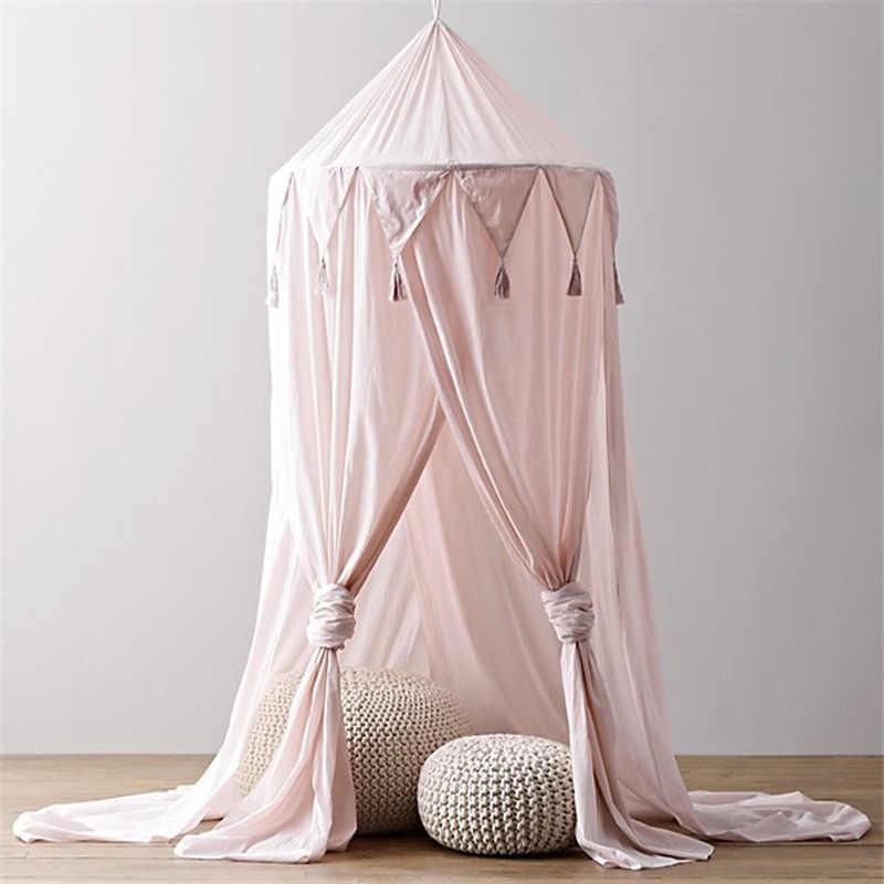 Kinder Baby Bett Zelt Tragbare Spielzeug Zelte Neugeborenen Krippe Netting Tipi Kind Baby Dekoration Zimmer Decor Baldachin Bett Vorhang Babykamer